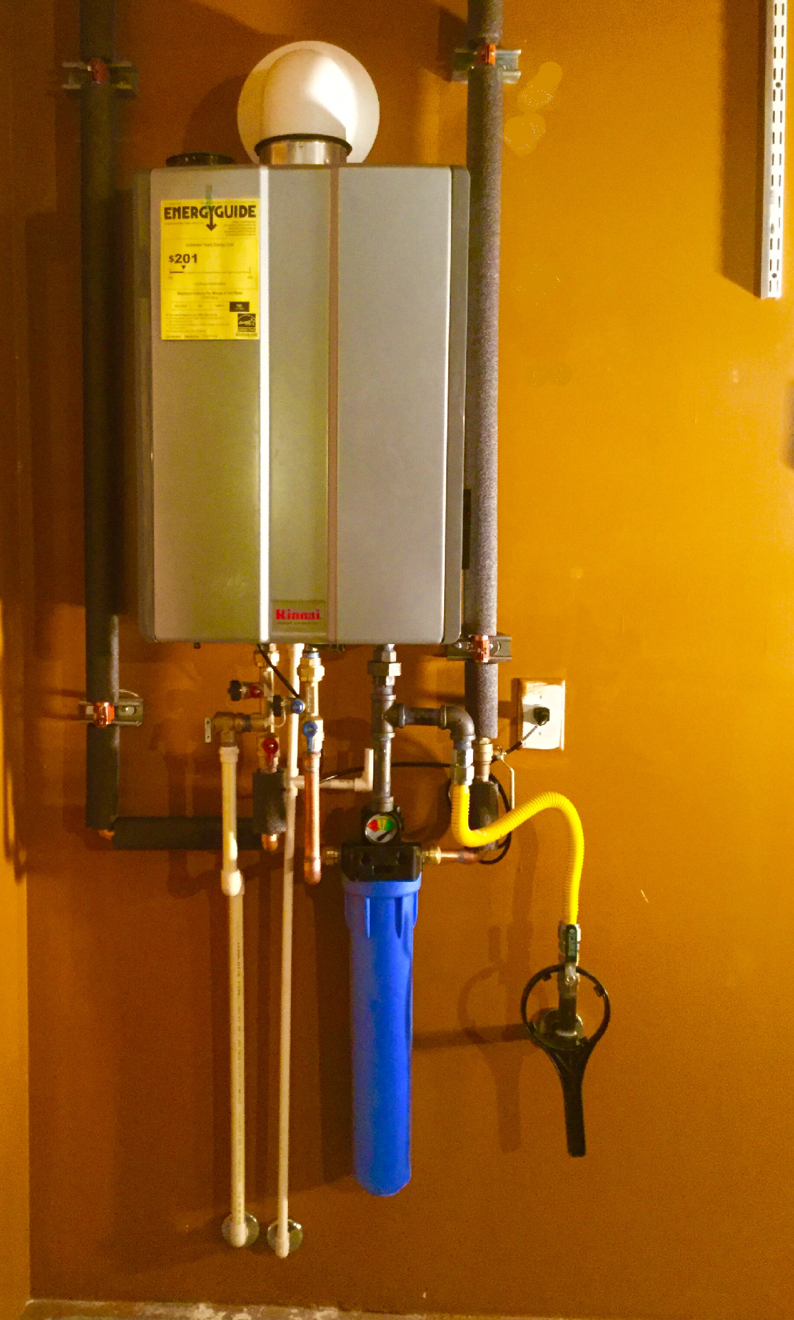 Installoftheweek Goes To Our Technician Steve For This Stunning Rinnai Tankless Water Heater Install Our Custome Tankless Water Heater Water Heater Heater
