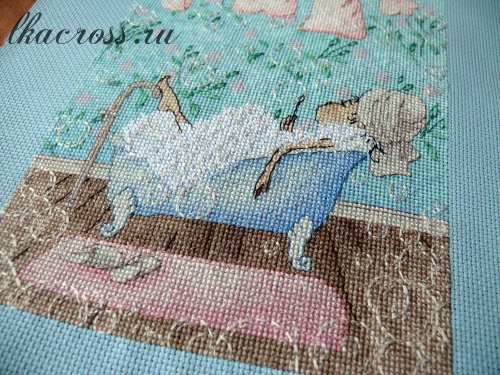Схема вышивки крестом в ванной