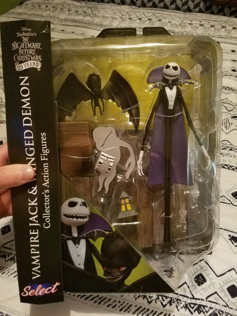 Disney Vampire Jack Skellington /& Winged Demon Nightmare Before Christmas New