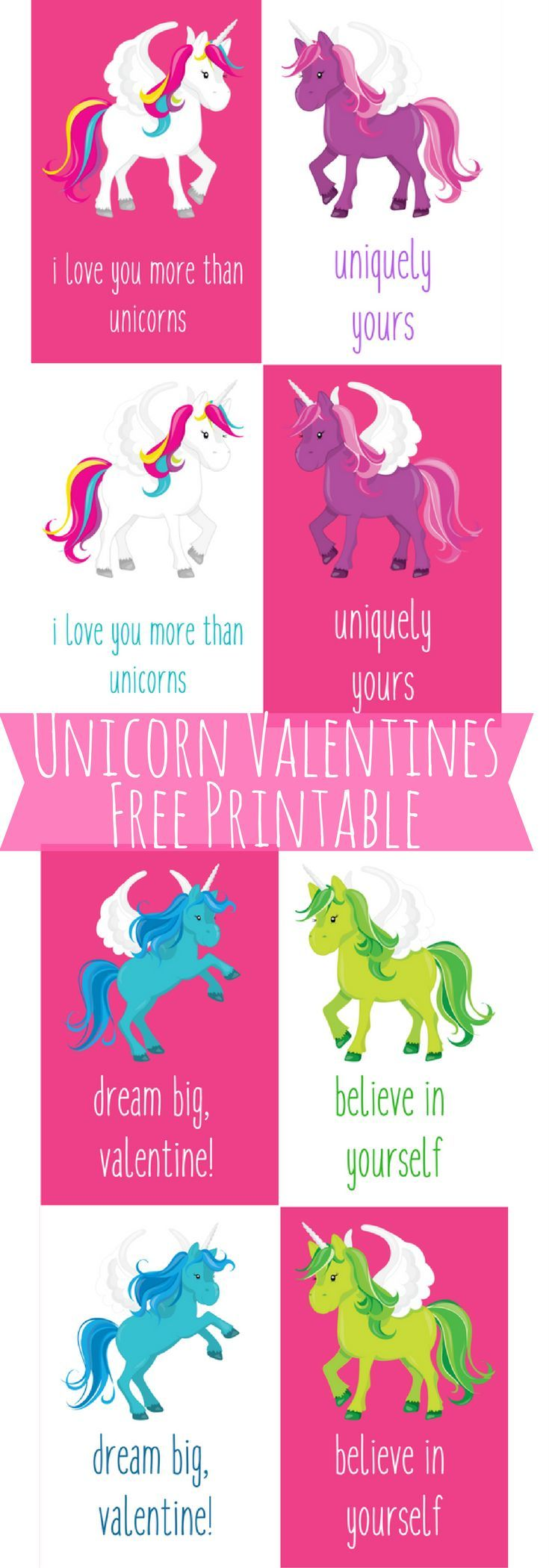 photo about Free Printable Unicorn Valentines referred to as Cost-free Printable Unicorn Valentines Playing cards for Youngsters Perfect