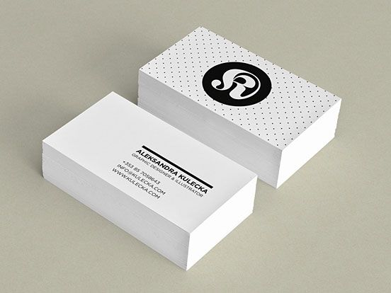Aleksandra Kulecka Business Card Business Cards The Design Inspirat Business Card Design Inspiration Graphic Design Business Card Minimalist Business Cards