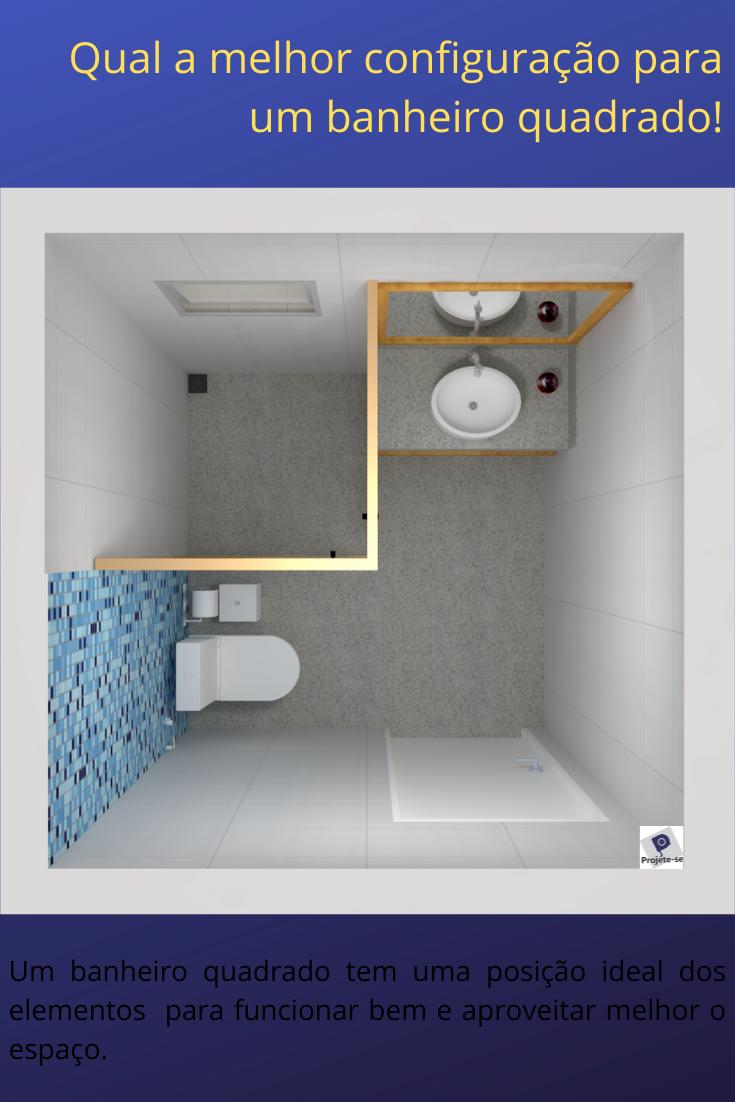 Banheiro quadrado pequeno medidas