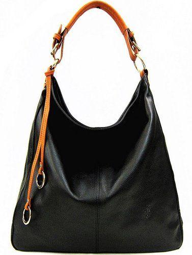 Handbag Bliss Black Tan Large Soft Italian Leather Slouch Shoulder Bag New Arrival Winter 2017 Co Uk Shoes Bags