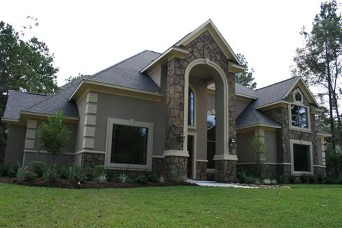 Stone and stucco home sweet home pinterest stone for Stucco homes with stone accents