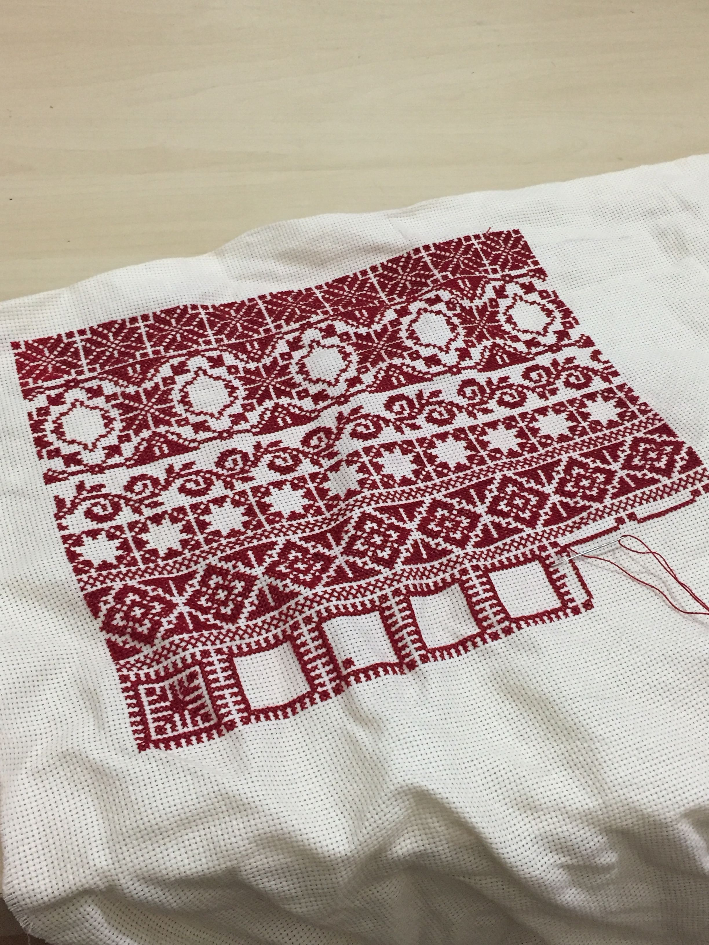 تطريز فلسطيني باترون Cross Stitch Cross Stitch Cross Stitch Patterns Hand Embroidery