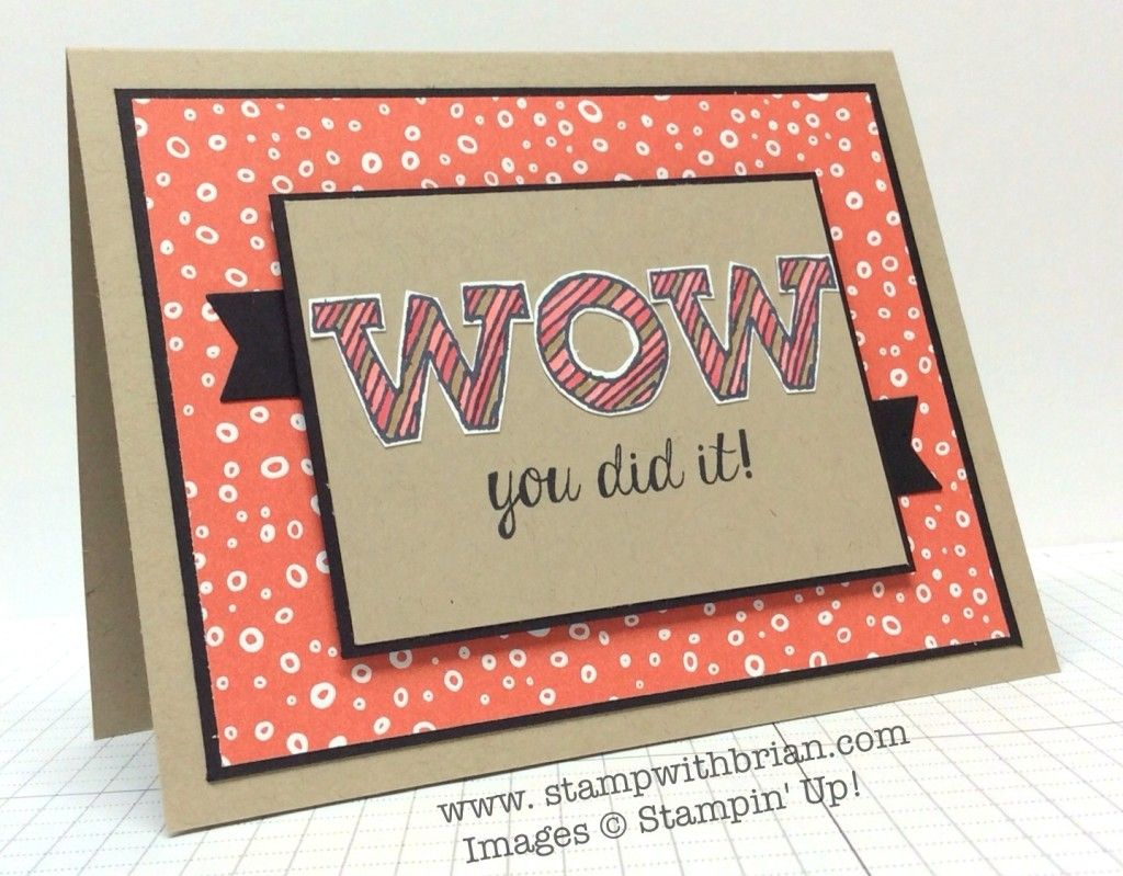 Wow You Did It Congrats Card Paper Crafts Cards Greeting Card Template