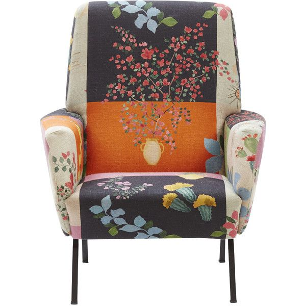 Superb Spezyale Design Atelier Mediterranean Floral Armchair ($3,250) ❤ Liked On  Polyvore Featuring Home,