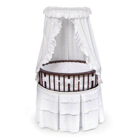 Baby Bassinet, Badger Basket Round Bassinet Bedding