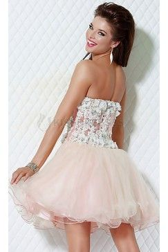 strapless organza dress with corset lace bodice con imágenes