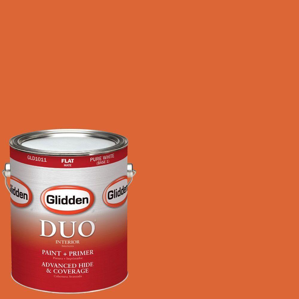 Glidden duo 1gal hdgo14 fresh tangerines flat latex