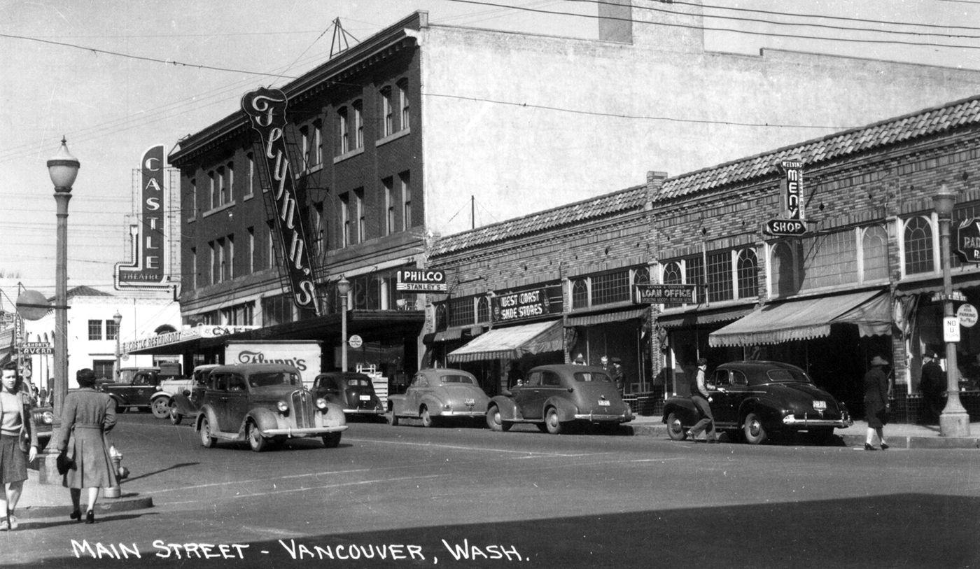 Main Street Vancouver Washington Early 1950s Clark