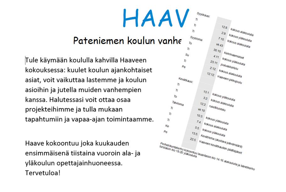 Koulumme vanhempaintoimikunnan tiedottajana olen tehnyt monenlaisia materiaaleja, kuten artikkeleja, esitteitä ja mainoksia. Tässä ilmoitustaulun tiedotteita.