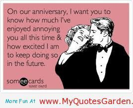 funny happy anniversary quotes to my husband