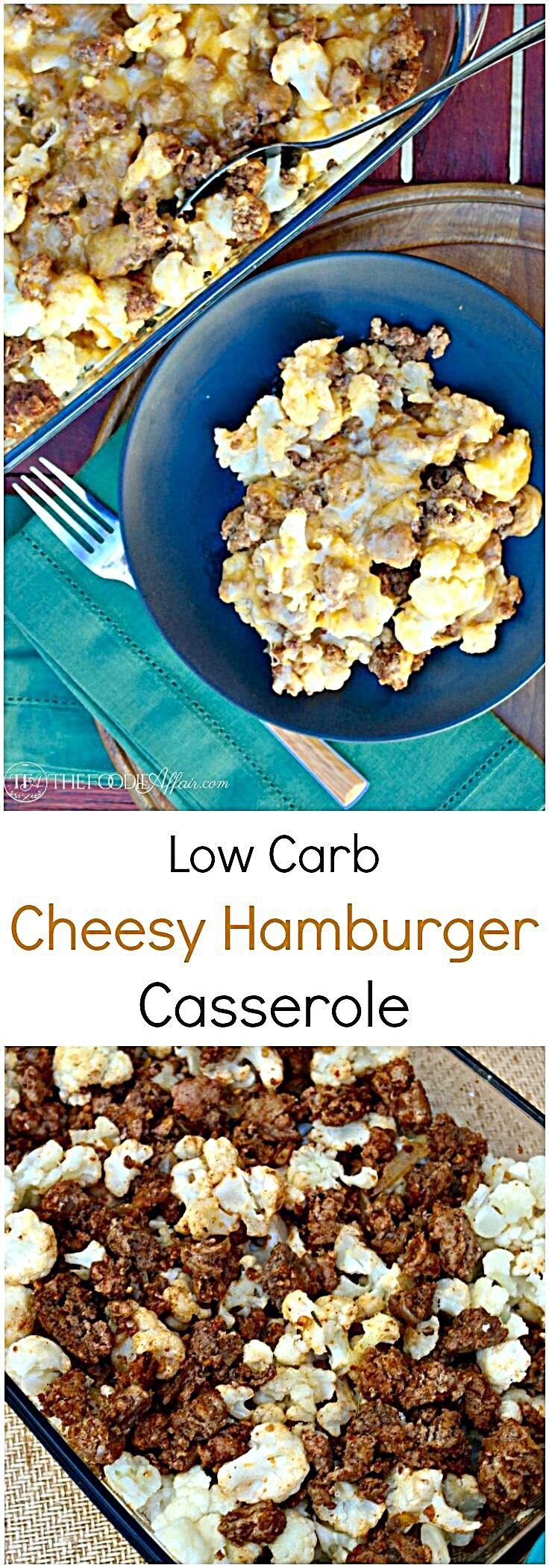 Low Carb Hamburger Casserole #hamburgercassarole
