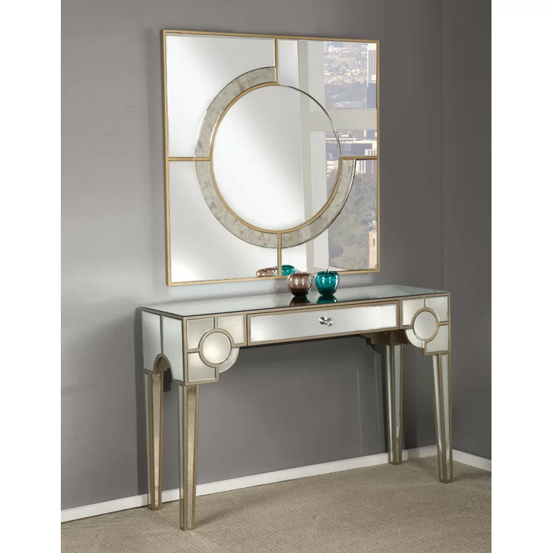"""Romy 47"""" Console Table in 2020 Mirrored console table"""