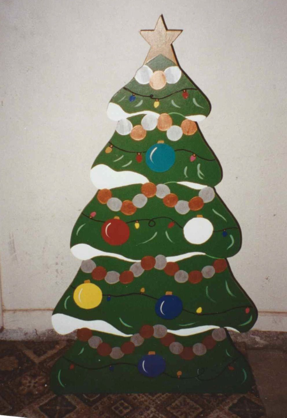 Small Christmas Tree Christmas Yard Decoration I Made From Plywood About 2 Christmas Yard Decorations Small Christmas Trees Christmas Decorations Diy Outdoor