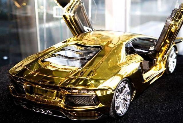 Pure gold lamborghini