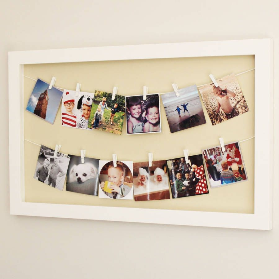 Large 39 photo line 39 peg frame best large photos ideas for Picture hanging pegs