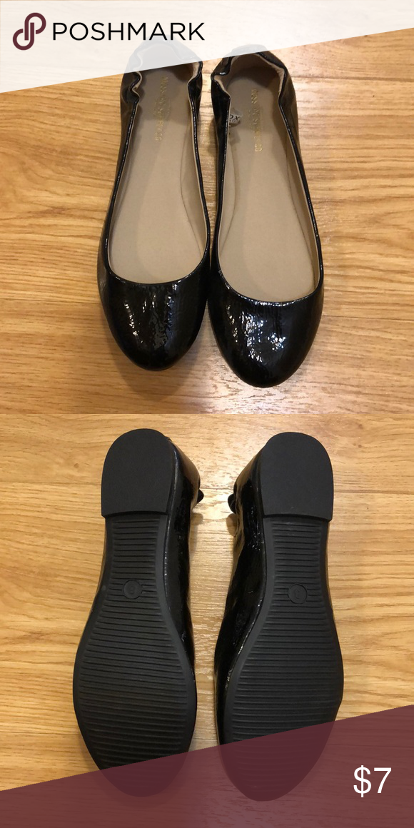 Mossimo Supply Co (Target) Patent black flats No tags but never worn Mossimo  Supply Co. Shoes Flats   Loafers 5e0d3987ef99
