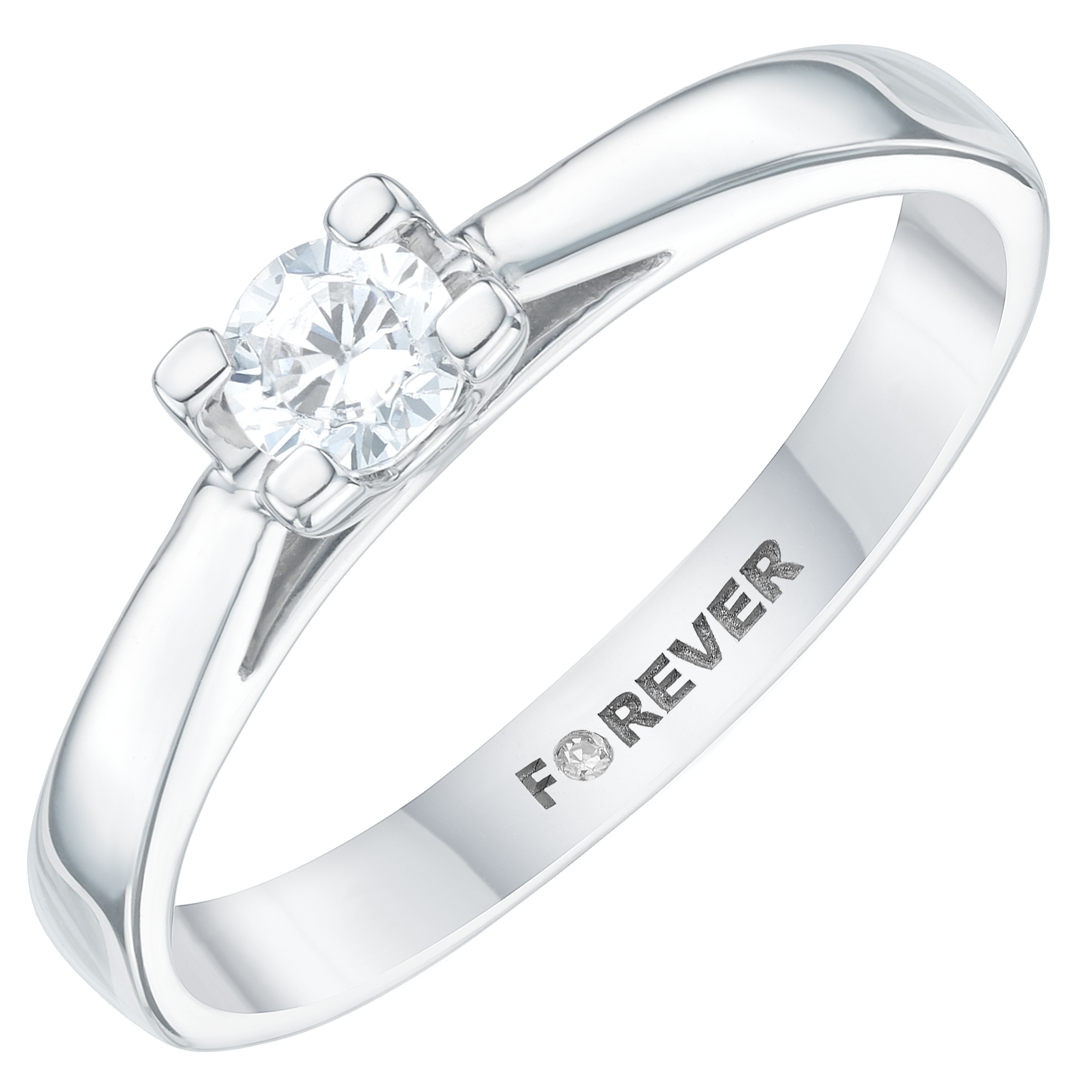 Simplicity And Supreme Elegance Are In Abundance With This Platinum Forever Diamond Solitaire Ring With A Single St Diamond Solitaire Rings Perfect Ring Rings