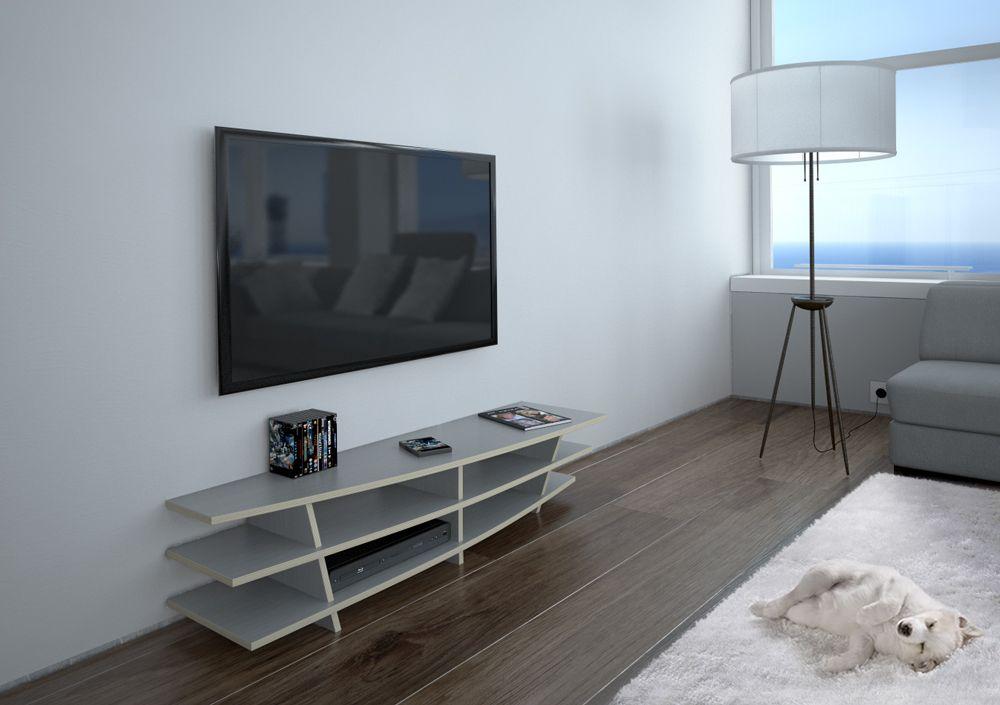 Egal, ob Dein Fernseher an der Wand hängt, oder lieber stehen möchte. Unsere TV- Racks setzten ihn auf jeden Fall super in Szene. Und sogar Curved TVs freuen sich über ein Regal passende zu ihrer geschwungenen Form.