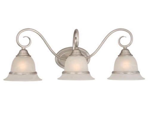 New 3 Light Bathroom Vanity Lighting Fixture Platinum: 3 Light Vanity Light At Menards Master Bath