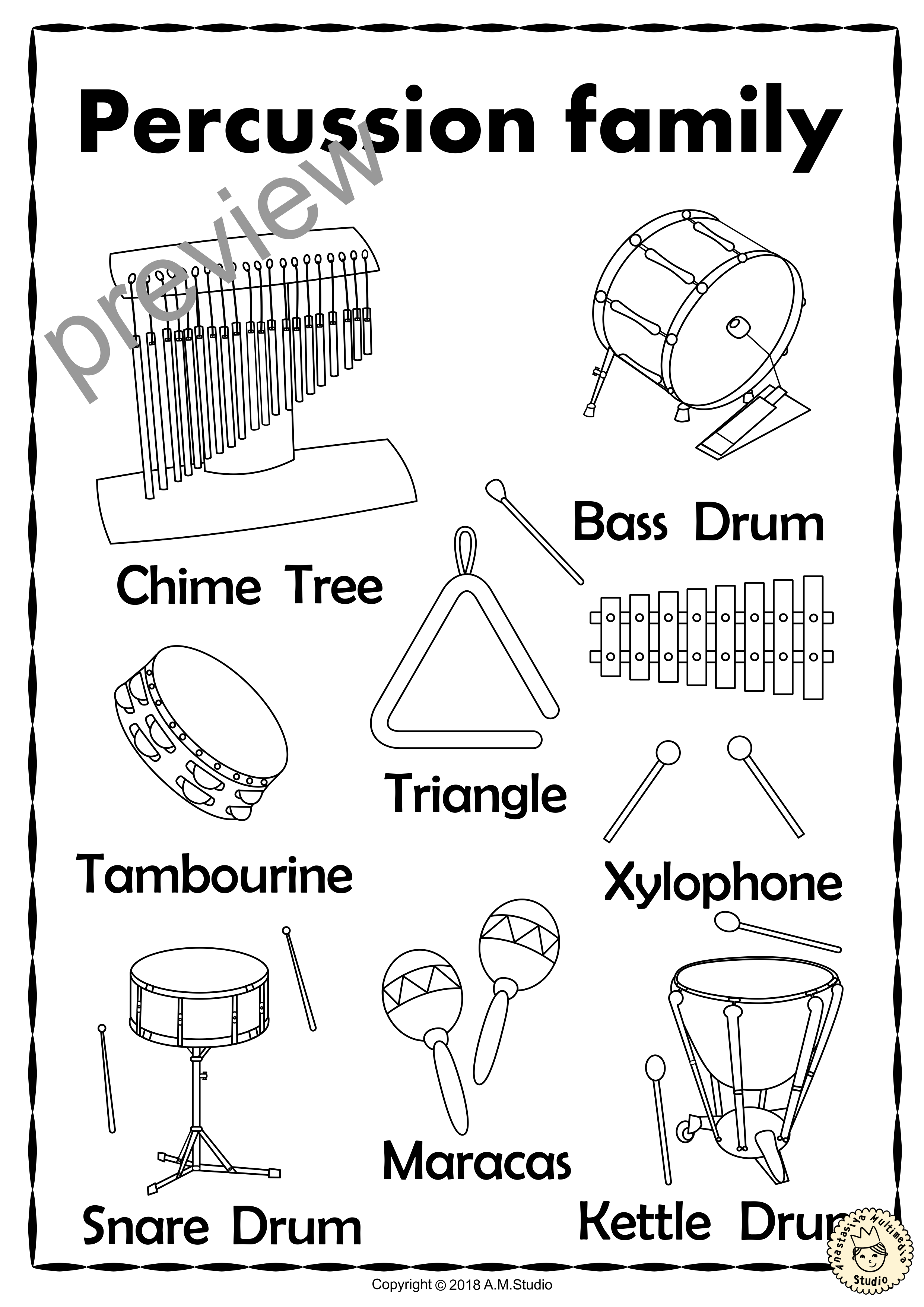 This Resource Contains Three Set Of Activities Coloring Pages And Puzzles To Help Your Students Recognize Teaching Music Preschool Music Instrument Families