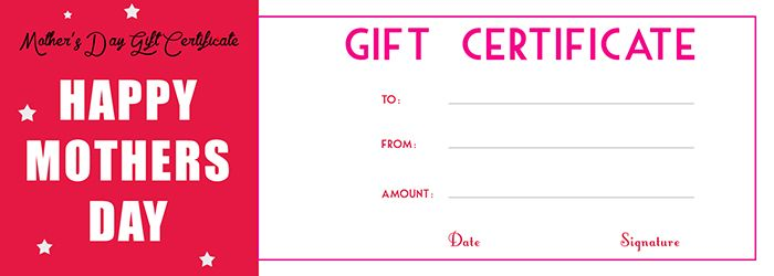 Motheru0027s Day Gift Certificate Template - Free Gift Certificate - fresh younique gift certificate template