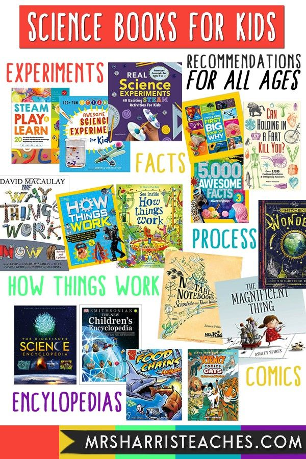 Have Science Books for Kids of All Ages  Mrs Harris Teaches Science Books for Kids  Recommendations for All Ages Grade PK12Science Books for Kids  Recommendations for All...