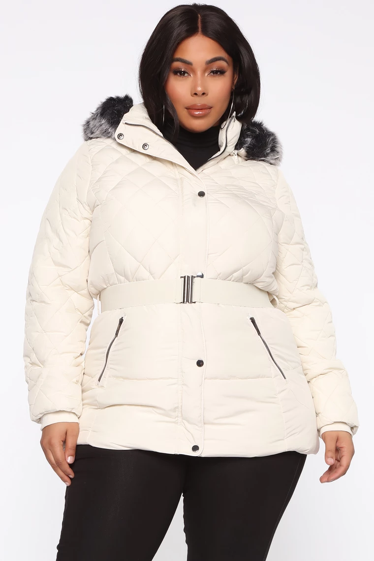 Belted My Cold Heart Puffer Jacket Ivory Puffer Jackets Fashion Puffer [ 1140 x 760 Pixel ]