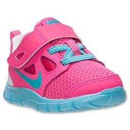 100% authentic 2ca2a 44f4c Girls  Toddler Nike Free Run 5 Running Shoes   FinishLine.com   Pink Foil Gamma  Blue Pure Platinum