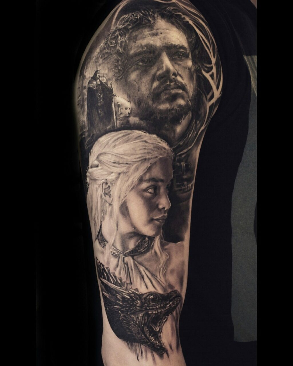 game of thrones tattoo done by stefan m ller black rainbow tattoo theatre zwickau tattoos by. Black Bedroom Furniture Sets. Home Design Ideas
