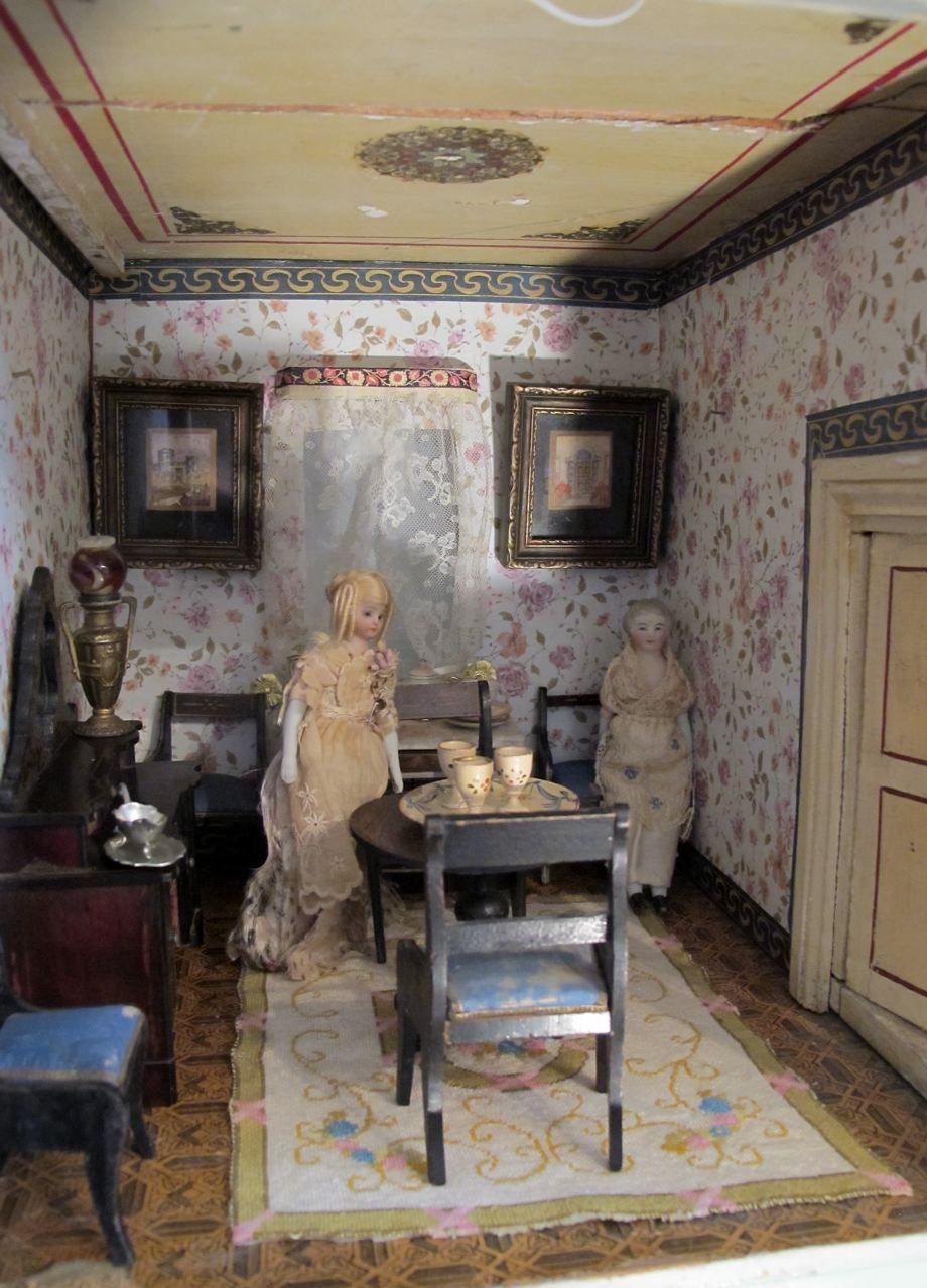wohnzimmermobel jugendstil : Susan S Mini Homes Christian Hacker Antique Dollhouse Circa 1880