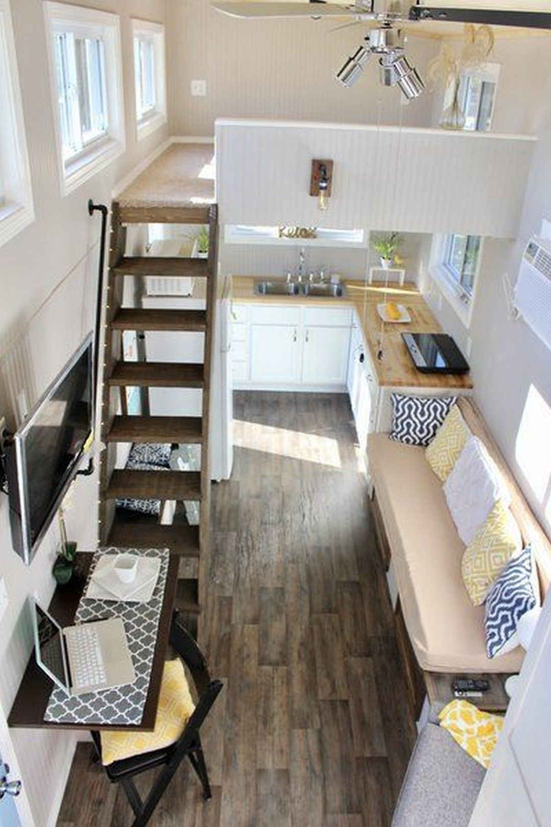 70 Endearing Tiny House Organization Tips That Ll Inspire You Page 22 Of 70 Tiny House Organization Tiny House Interior Modern Tiny House