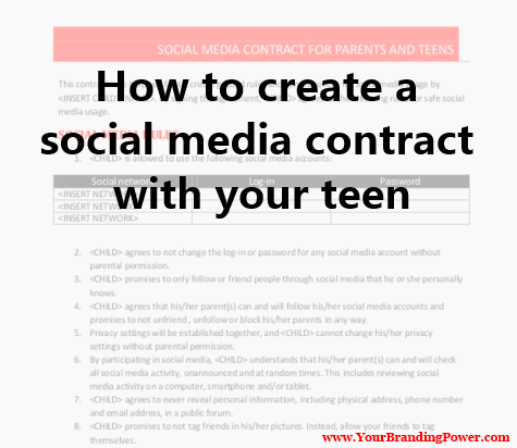 Contract with your teen