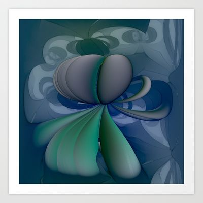 AetherealVibesSeries082 Art Print by fracts - fractal art - $16.00