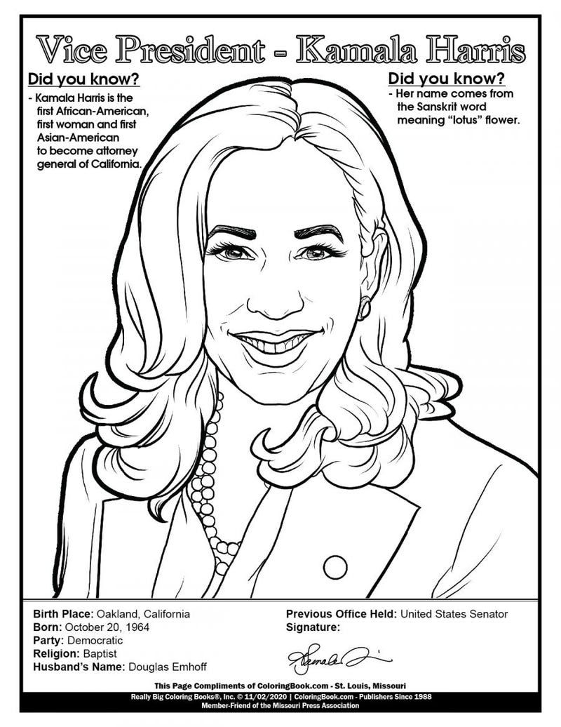 Download or print this amazing coloring page: President Joe Biden