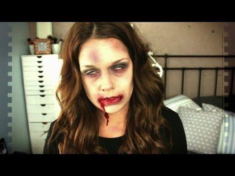 Halloween Last Minute Makeup , Zombie / rapide, simple et très facile. ,  YouTube