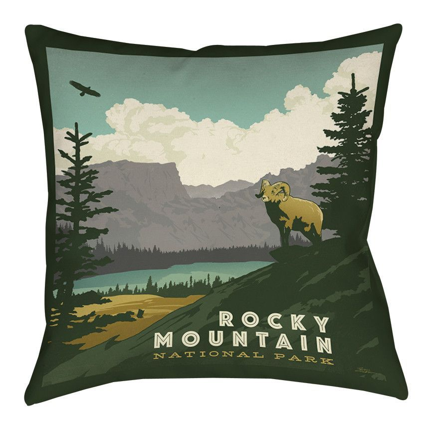 Rocky Mountain National Park Indoor/Outdoor Throw Pillow