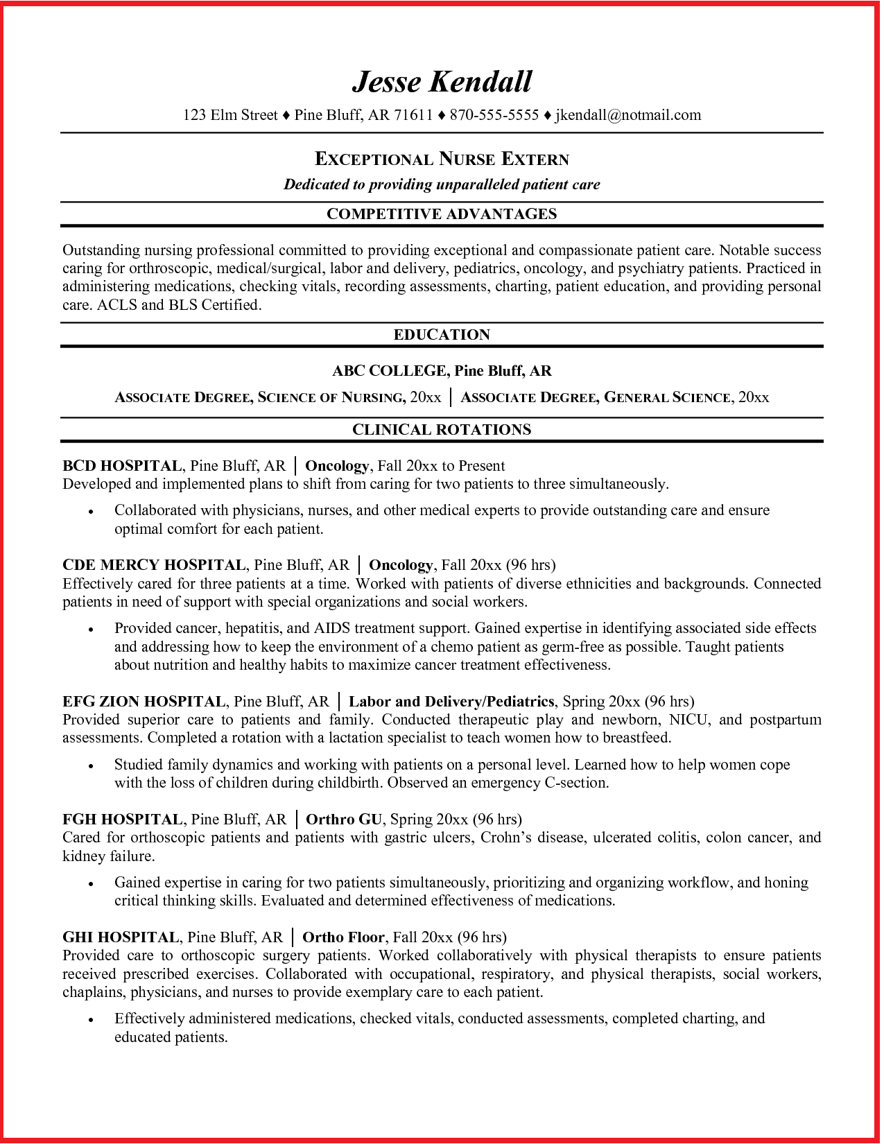 Oncology Nurse Resume Sample http//www.jobresume