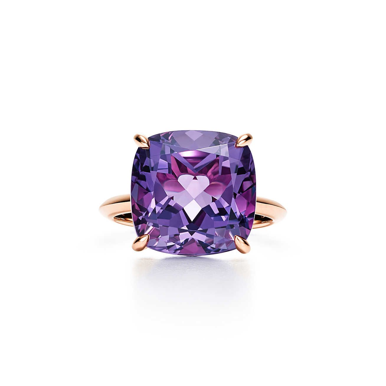a2b596b36 Tiffany Sparklers:Amethyst Ring | Wedding | Gold rings, Rings, Rose ...