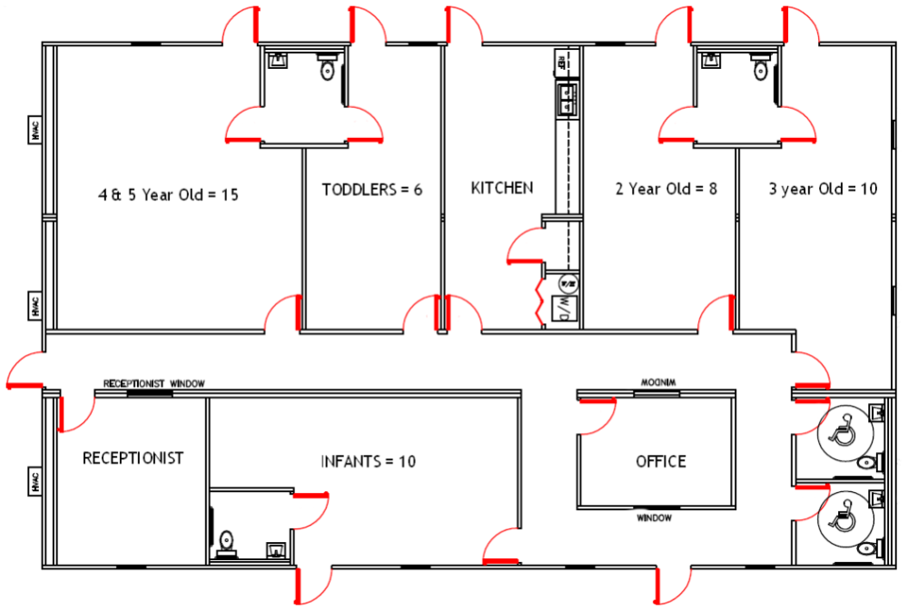 Floor Plans For Daycare Facilities Floor Plan For Up To 56