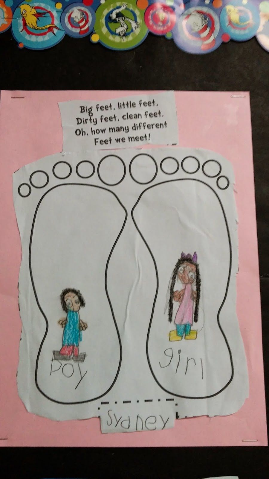 The Foot Book: Opposites. Kindergarten writing activity on opposites. ~~ Sztanya's Stars ~~