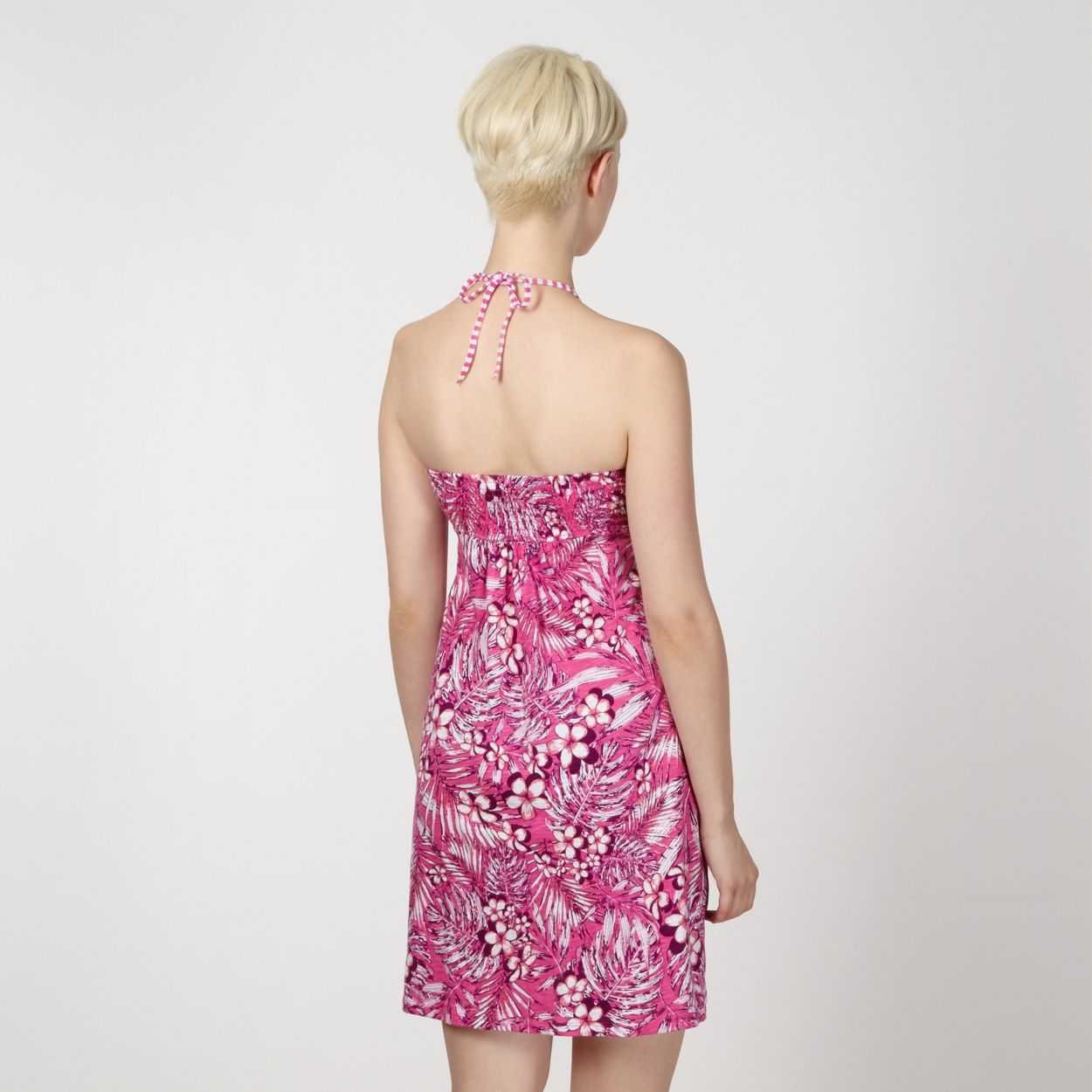 Mantaray Pink floral shirred dress- at Debenhams.com | Mantaray Swim ...