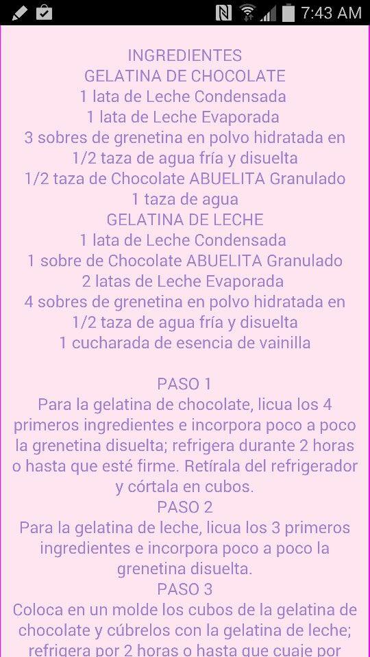 Gelatina de Chocolate parte 1