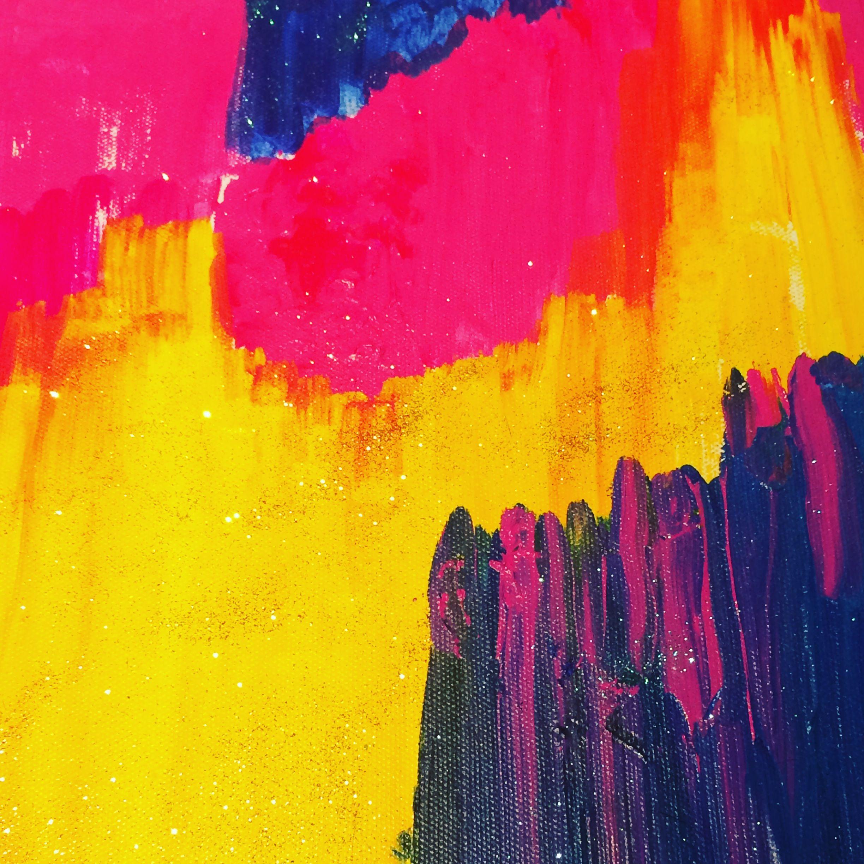 City Scape Acrylics & Glitter   My art   Pinterest   Acrylics ...
