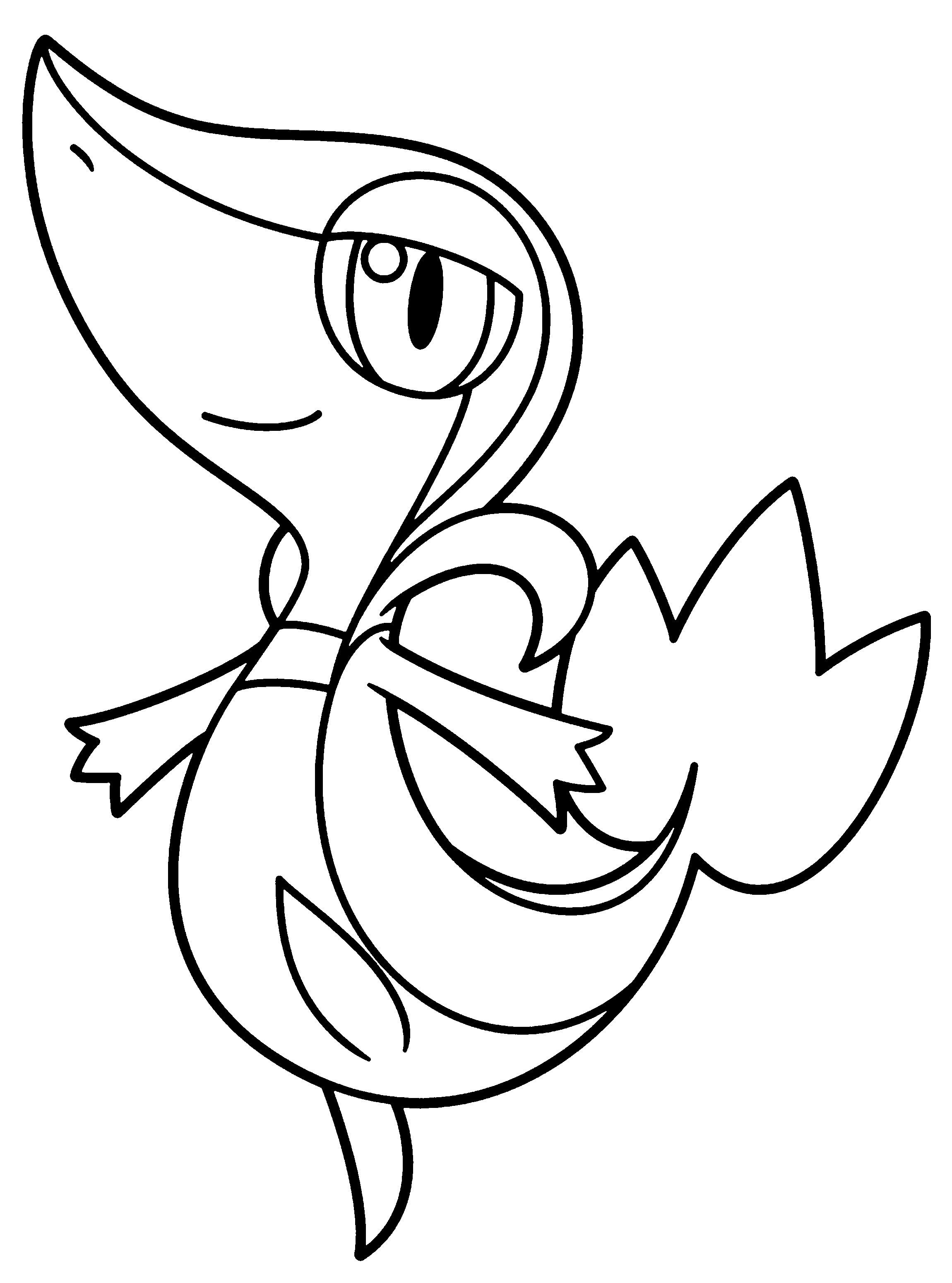 Pokemon Coloring Snivy Through The Thousand Photographs On The Web