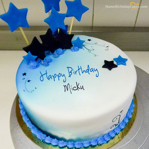 The Name Micku Is Generated On Happy Birthday Brother Cake With