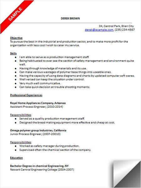 Download Process Engineer Resume Sample Resume Examples - finance resume objective examples