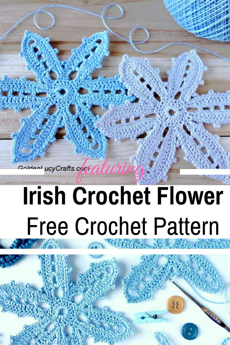 Beautiful Irish Crochet Flower Free Pattern - Knit And Crochet Daily